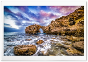 Pacific Ocean Rocks Coast HD Wide Wallpaper for Widescreen