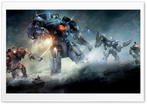 Pacific Rim Robots HD Wide Wallpaper for Widescreen