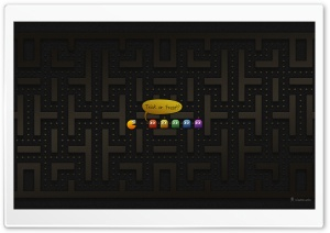 PacMan Halloween HD Wide Wallpaper for Widescreen
