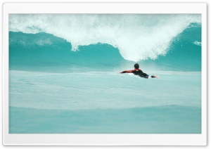 Paddling Out HD Wide Wallpaper for Widescreen