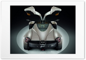 Pagani Huayra Gunmetal Top Doors HD Wide Wallpaper for Widescreen
