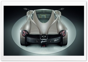 Pagani Huayra Gunmetal Top Rear HD Wide Wallpaper for Widescreen