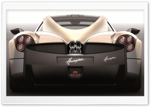 Pagani Huayra Light Brown Rear HD Wide Wallpaper for Widescreen