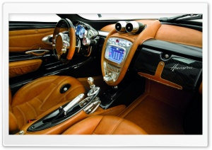 Pagani Huayra Passengers Side Interior HD Wide Wallpaper for Widescreen