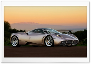 Pagani Huayra Sunset HD Wide Wallpaper for Widescreen