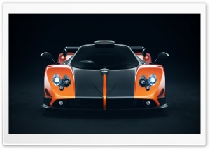 Pagani Zonda Cinque Orange HD Wide Wallpaper for Widescreen