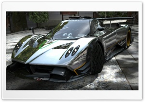 Pagani Zonda R Chrome HD Wide Wallpaper for Widescreen