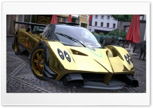 Pagani Zonda R Gold HD Wide Wallpaper for Widescreen