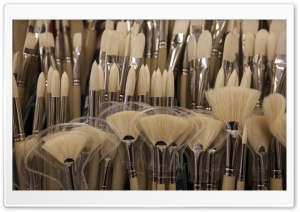 Paint Brushes HD Wide Wallpaper for Widescreen