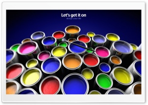 Paint Buckets HD Wide Wallpaper for Widescreen