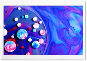 Paint Mix Bubbles HD Wide Wallpaper for 4K UHD Widescreen desktop & smartphone