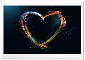 Paint Splash Heart HD Wide Wallpaper for Widescreen