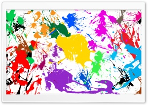 Paint Splatter HD Wide Wallpaper for Widescreen