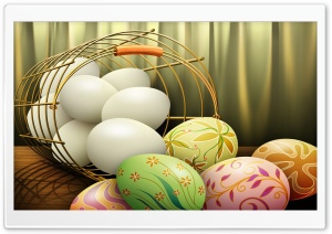 Painted Easter Eggs HD Wide Wallpaper for Widescreen