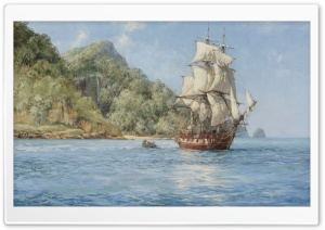 Painted Ship HD Wide Wallpaper for Widescreen
