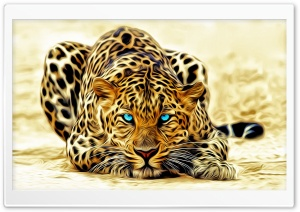 Painting Leopard HD Wide Wallpaper for Widescreen