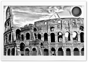 Painting Of Colosseum HD Wide Wallpaper for Widescreen