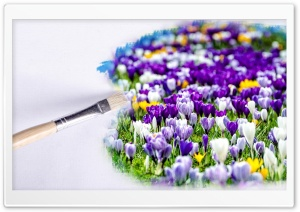 Painting Spring HD Wide Wallpaper for Widescreen