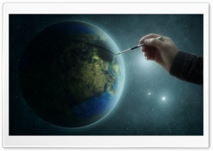 Painting The Earth HD Wide Wallpaper for Widescreen
