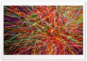 Painting With Fireworks HD Wide Wallpaper for Widescreen