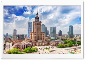 Palace of Culture and Science, Warszawa, Poland HD Wide Wallpaper for Widescreen