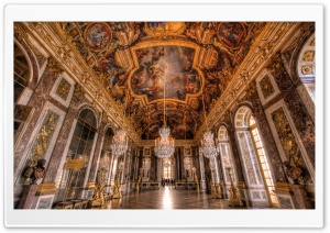 Palace of Versailles Hall of Mirrors HD Wide Wallpaper for Widescreen