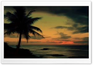 Palm Tree Near Ocean HD Wide Wallpaper for Widescreen