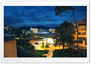 Palma Nova by Night HD Wide Wallpaper for Widescreen