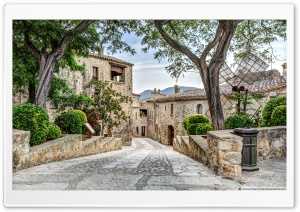 Pals, A Lovely Medieval Village Catalonia HD Wide Wallpaper for Widescreen