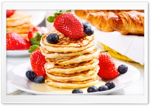 Pancakes And Syrup HD Wide Wallpaper for Widescreen