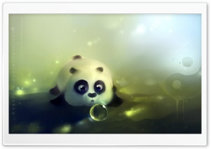 Panda Loves Bubbles HD Wide Wallpaper for Widescreen