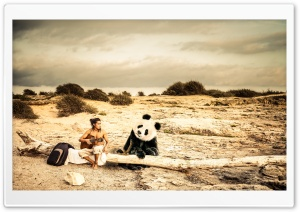 Panda Music HD Wide Wallpaper for Widescreen