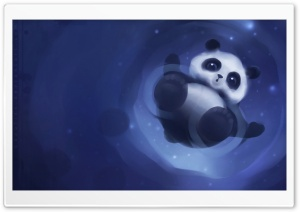 Panda Walking On Water HD Wide Wallpaper for Widescreen