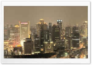 Panorama Of Osaka HD Wide Wallpaper for 4K UHD Widescreen desktop & smartphone
