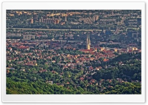 Panorama of Zagreb, Gornji grad i Novi Zagreb HD Wide Wallpaper for 4K UHD Widescreen desktop & smartphone