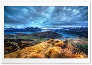 Panorama Over Queenstown HD Wide Wallpaper for 4K UHD Widescreen desktop & smartphone