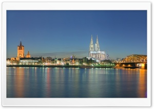 Panoramic Image Of Cologne HD Wide Wallpaper for 4K UHD Widescreen desktop & smartphone