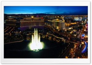 Panoramic Night View Of Las Vegas HD Wide Wallpaper for 4K UHD Widescreen desktop & smartphone