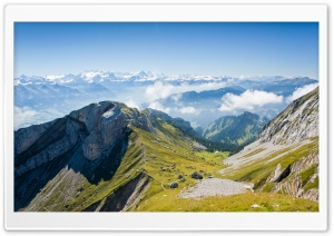 Panoramic View Of Mountain Range HD Wide Wallpaper for Widescreen