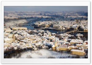 Panoramic View Of Prague HD Wide Wallpaper for 4K UHD Widescreen desktop & smartphone