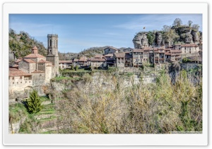 Panoramic View of Rupit i Pruit Catalonia Ultra HD Wallpaper for 4K UHD Widescreen desktop, tablet & smartphone