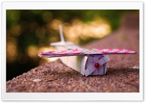 Paper Airplane HD Wide Wallpaper for Widescreen
