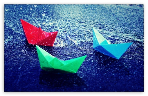 Paper Boats In Rain HD wallpaper for Wide 16:10 5:3 Widescreen WHXGA WQXGA WUXGA WXGA WGA ; HD 16:9 High Definition WQHD QWXGA 1080p 900p 720p QHD nHD ; Standard 4:3 3:2 Fullscreen UXGA XGA SVGA DVGA HVGA HQVGA devices ( Apple PowerBook G4 iPhone 4 3G 3GS iPod Touch ) ; iPad 1/2/Mini ; Mobile 4:3 5:3 3:2 16:9 - UXGA XGA SVGA WGA DVGA HVGA HQVGA devices ( Apple PowerBook G4 iPhone 4 3G 3GS iPod Touch ) WQHD QWXGA 1080p 900p 720p QHD nHD ;