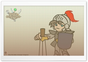 Paper Dungeons Male Warrior HD Wide Wallpaper for Widescreen
