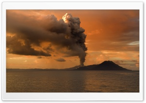 Papua New Guinea Volcanic Eruption HD Wide Wallpaper for Widescreen