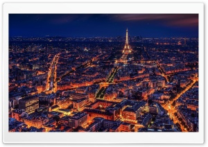 Paris at Night Ultra HD Wallpaper for 4K UHD Widescreen desktop, tablet & smartphone