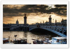 Paris Bridge HD Wide Wallpaper for 4K UHD Widescreen desktop & smartphone