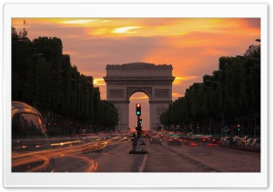 Paris  Champs-Elyses Ultra HD Wallpaper for 4K UHD Widescreen desktop, tablet & smartphone