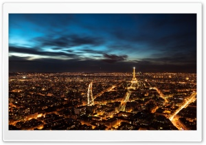 Paris City Lights HD Wide Wallpaper for Widescreen