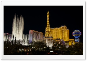 Paris Las Vegas HD Wide Wallpaper for 4K UHD Widescreen desktop & smartphone